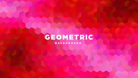 Hexagonal polygonal abstract background. Colorful triangle gradient design. Low poly hexagon shape banner. Vector illustration. Standard-Bild - 121501998