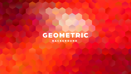 Hexagonal polygonal abstract background. Colorful triangle gradient design. Low poly hexagon shape banner. Vector illustration. Standard-Bild - 121502061