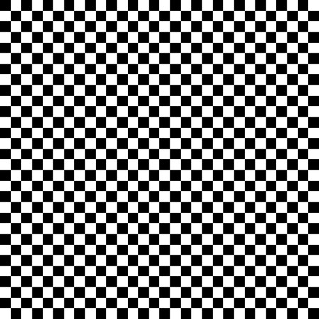 Checkered geometric vector background with black and white tile. Chess board. Racing flag pattern, texture. Illustration