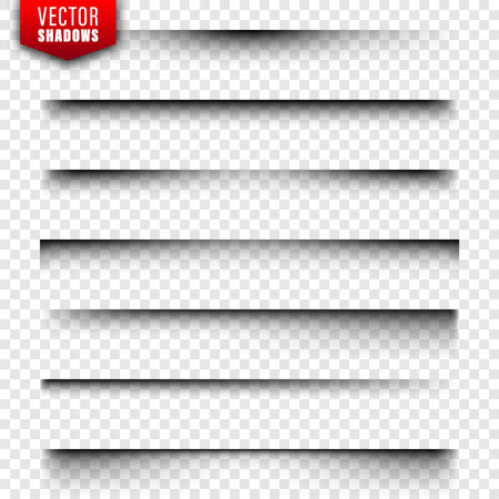 Vector shadows set. Page dividers on transparent background. Realistic isolated shadow. Vector illustration Stock Vector - 128182953