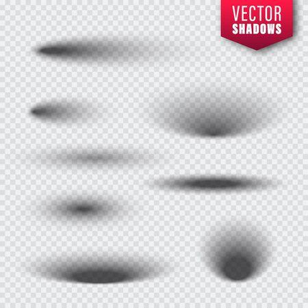 Vector shadows set on transparent Illustration
