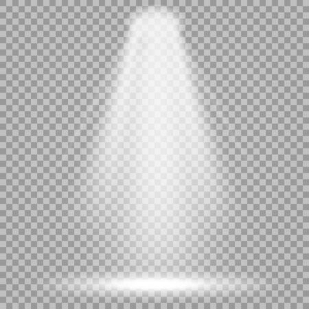 Projecteur de vecteur. Faisceau lumineux brillant. Effet réaliste transparent. Éclairage de scène