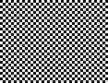 Sfondo vettoriale geometrico a scacchi con piastrelle bianche e nere. Scacchiera. Modello di bandiera da corsa, trama.