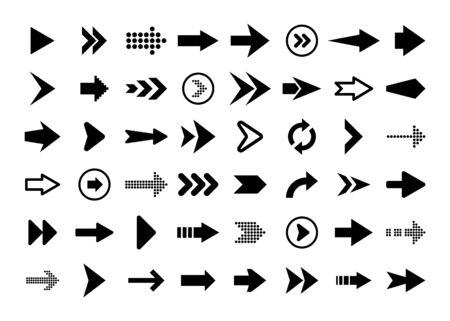 Black Arrows Set on White