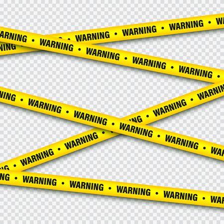 Yellow And Black Barricade Construction Tape. Foto de archivo - 129392103