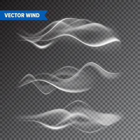 Realistic Wind Set on Transparent Stock Illustratie