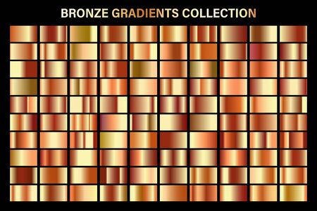 Bronze, orange glossy gradient, metal foil texture. Ilustracja