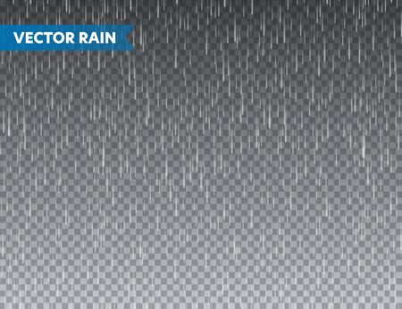 Realistic rain texture on transparent