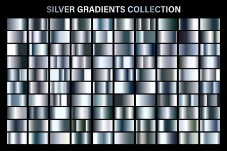 Silver glossy gradient, metal foil texture