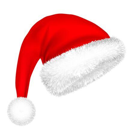 Cappello Di Babbo Natale Di Natale Con Pelliccia.