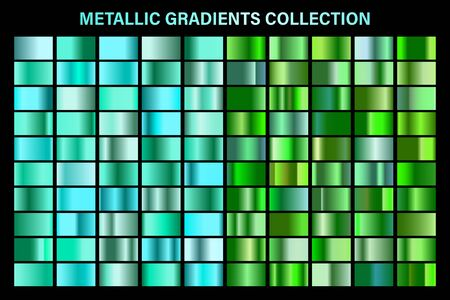Green, emerald glossy gradient, metal foil texture