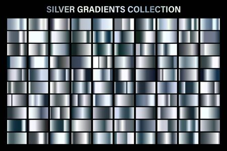 Silver glossy gradient, metal foil texture.