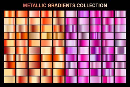 Pink and bronze, orange glossy gradient, metal foil texture.
