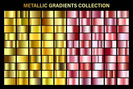 Rose gold and golden, yellow glossy gradient, metal foil texture.