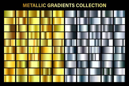 Silver and golden, yellow glossy gradient, gold metal foil texture.