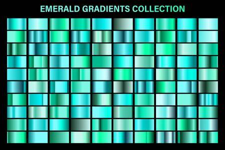 Green, emerald glossy gradient, metal foil texture.