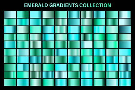 Green, emerald glossy gradient, metal foil texture. Reklamní fotografie - 129391544