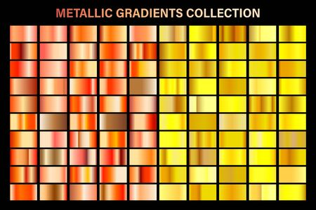 Golden, yellow and orange bronze gradient, gold metal foil texture.  イラスト・ベクター素材