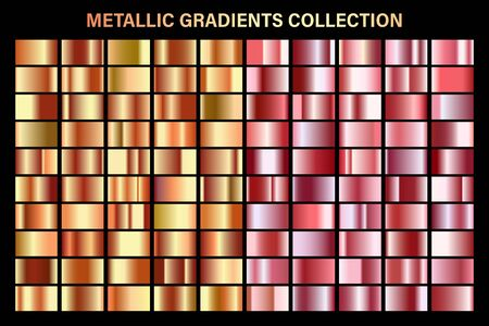 Rose gold and orange, bronze glossy gradient, metal foil texture.