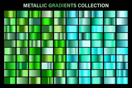 Green, emerald glossy gradient, metal foil texture.