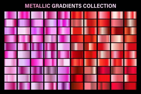 Pink and red ruby glossy gradient, metal foil texture.