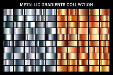 Silver and orange bronze glossy gradient, metal foil texture.