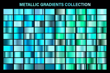 Blue, azure glossy gradient, metal foil texture 일러스트