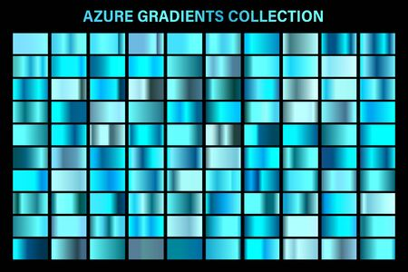 Blue, azure glossy gradient, metal foil texture.