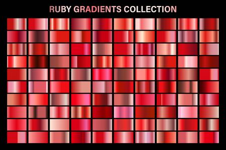 Red ruby glossy gradient, metal foil texture.