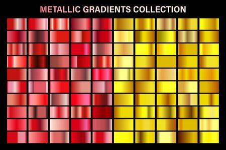 Ruby red and golden, yellow glossy gradient, gold metal foil texture. Ilustrace