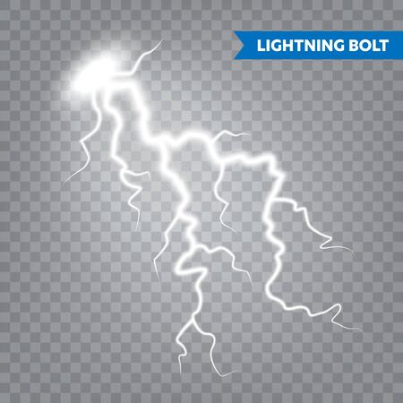 Realistic lightning on transparent