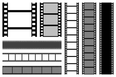 Film strips collection. Stock Illustratie