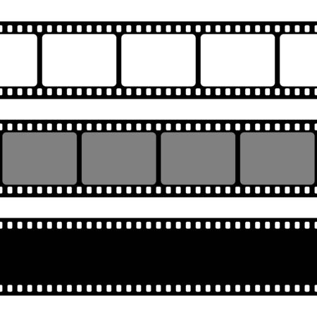 Film strips collection. Illustration