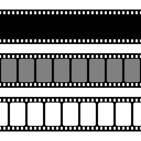 Collezione di strisce di pellicola. Vecchia striscia di cinema retrò.