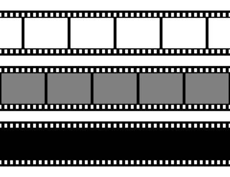 Sammlung von Filmstreifen. Alter Retro-Kinostreifen.