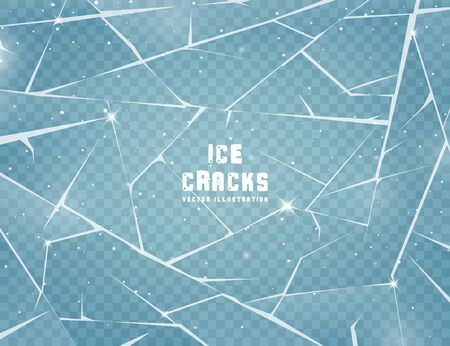 Realistic cracked ice surface. Standard-Bild - 133557428