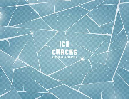 Superficie di ghiaccio incrinata realistica.