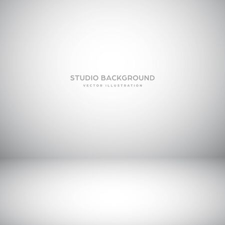 Empty gray studio abstract background with spotlight effect. Product showcase backdrop Standard-Bild - 136710553
