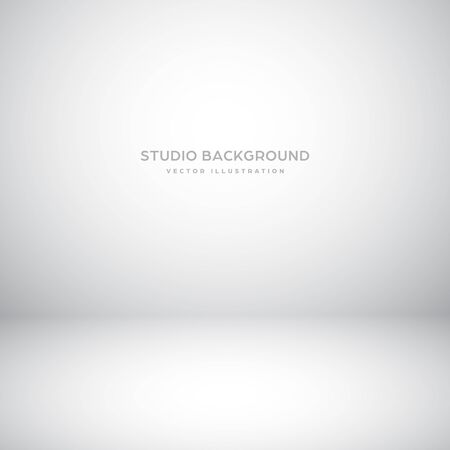 Empty gray studio abstract background with spotlight effect. Product showcase backdrop 向量圖像