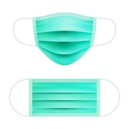 Realistic medical respiratory mask.