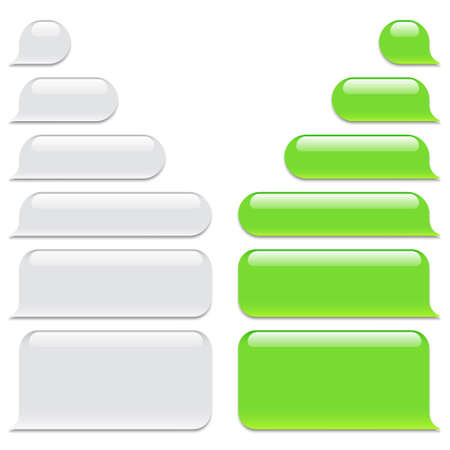 Blank vector message bubbles. Chat or messenger speech bubble. SMS text frame. Short message sending.
