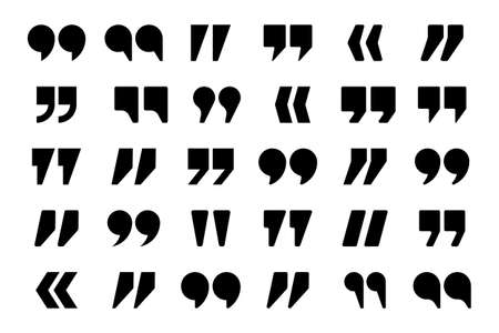 Quotation marks vector collection. Quotes icon. Speech mark symbol. Illustration