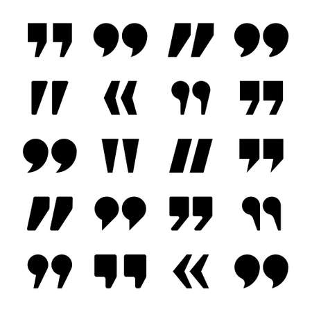 Quotation marks vector collection. Quotes icon. Speech mark symbol. Stock Illustratie