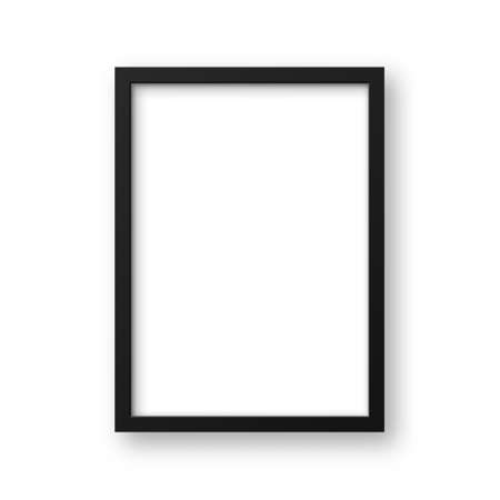 Realistic picture frame isolated on white background. Blank poster mockup. Empty photo frame. Vector illustration. 일러스트