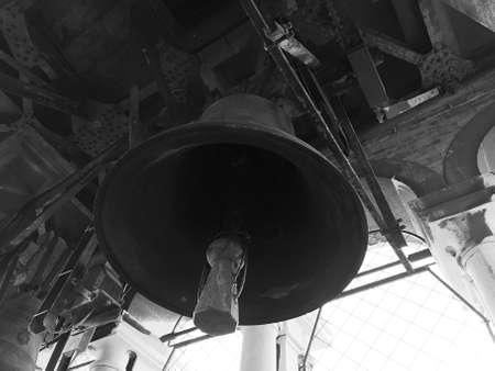 close-up under the bell of a Venetian church Stock fotó