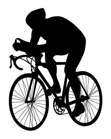Cyclist.vector Foto de archivo - 5023160