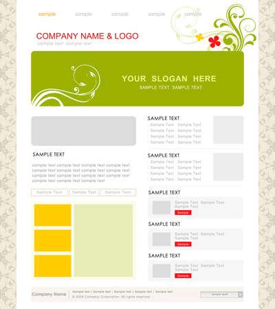 website template,vector Vector