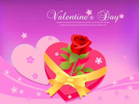 Valentines Day greeting card.vector Vector