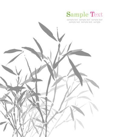 대나무의 중국 ink painting.vector
