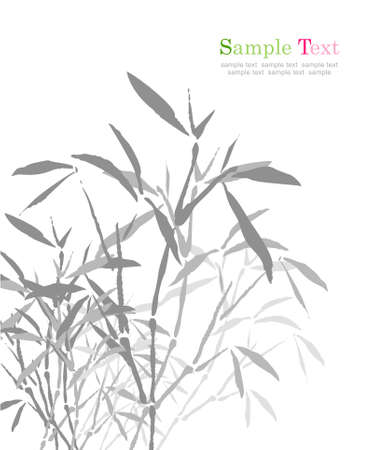spore: Bamboos Chinese ink painting.vector